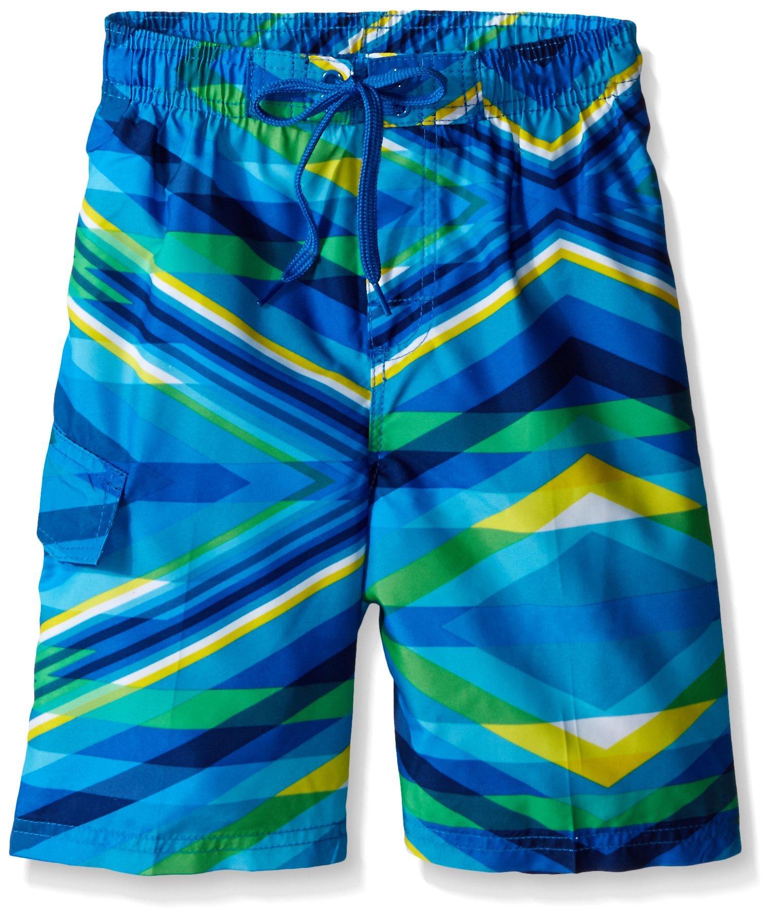 Kanu Surf Little Boys' Energy Swim Trunk, Blue, Medium (5/6)