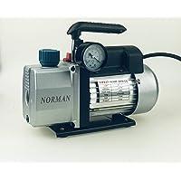 WeberDisplays Norman Single Stage 1 - Stage 4 CFM 1/3 HP Rotary Vane Vacuum Pump Tool HVAC Air AC A/C HVAC Suitable for R12, R22, R410a R134a.