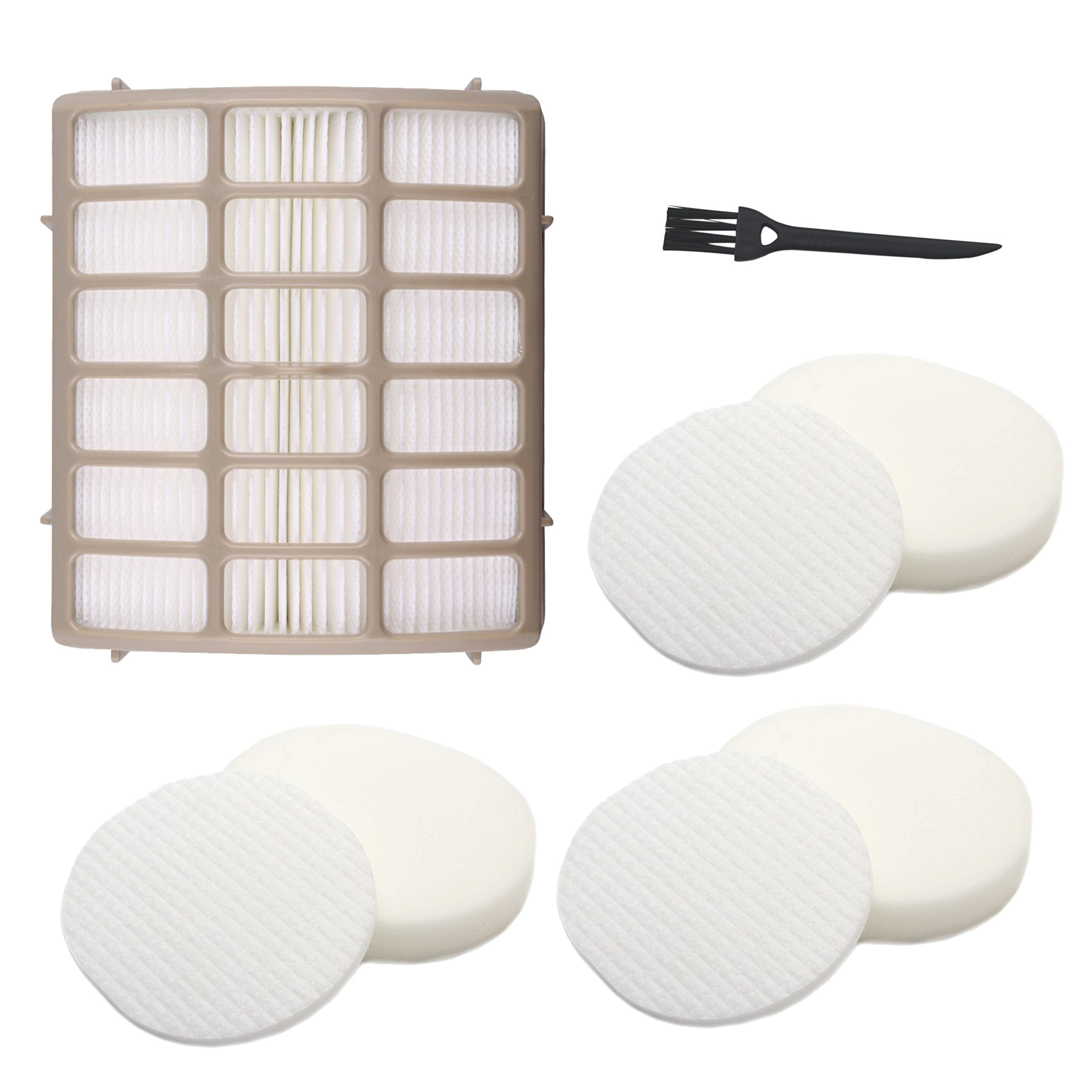 3 Foam & Felt + 1 Hepa Filters, Shark Navigator Rotator Professional Upright Vacuum NV70 NV71 NV80 NVC80C NV90 NV95 UV420 Filter Kit Replacement Part XFF80 XHF80 by Dttery