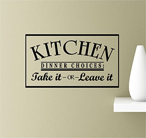 Kitchen Dinner Choices...Vinyl Wall Decal Sticker Home Decor Family