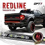 "OPT7 60"" Redline LED Tailgate Light Bar - TriCore LED - Weatherproof Rigid Aluminum No-Drill Install - Full Featured Reverse"