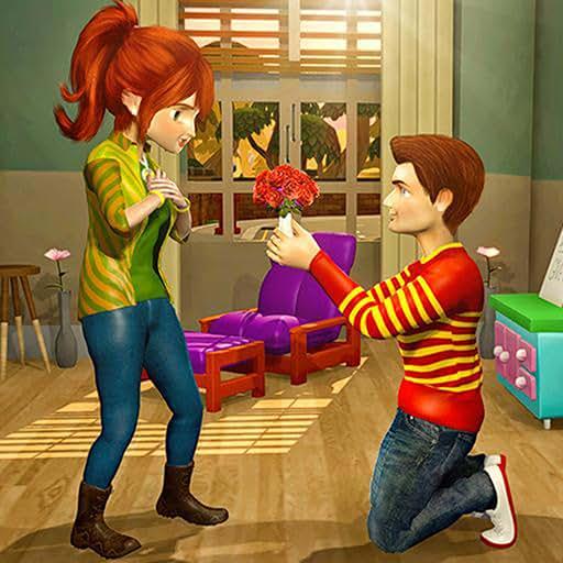 Virtual Neighbor Happy Family Adventure Fun Simulator 3D: Happy Family Adventure Sim Games For Girls For Free 2018