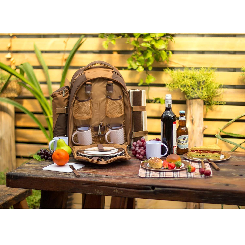 Apollowalker Picknickrucksack für 4 4 4 Personen mit Fleece-Decke und Kühlfach B073ZW3V9Y | Neues Produkt  1bddf3