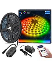 MINGER Dreamcolor 9.8ft/3M RGB LED Strip Lights, APP Control MusicPro Waterproof Flexible Tape Lighting Kit, Color Changing by Sync to Music, Power Supply Included