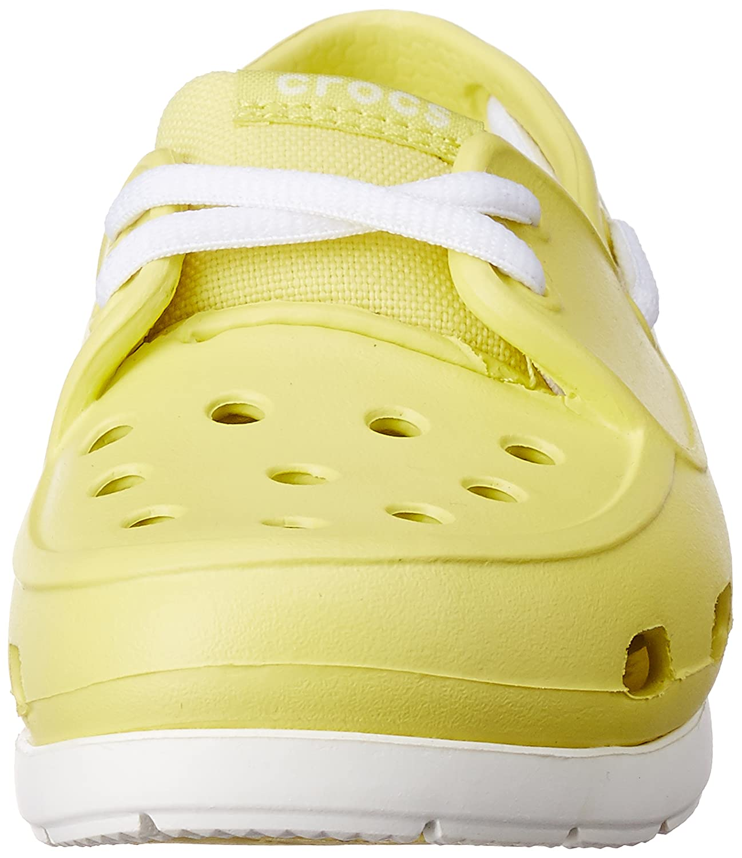 Crocs Kids Beach Line Lace Up Boat schuhe Chartreuse Chartreuse Chartreuse Weiß US 13 Little Kid 40e0e5