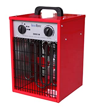 Fuerza Hertz 3 KW, 5 kW, 9 kW calefactor eléctrico calefactor Industrial Estufa WDH-500AH, 3 niveles, Rojo 3.00 kilowattsW, 220.00 voltsV: Amazon.es: ...