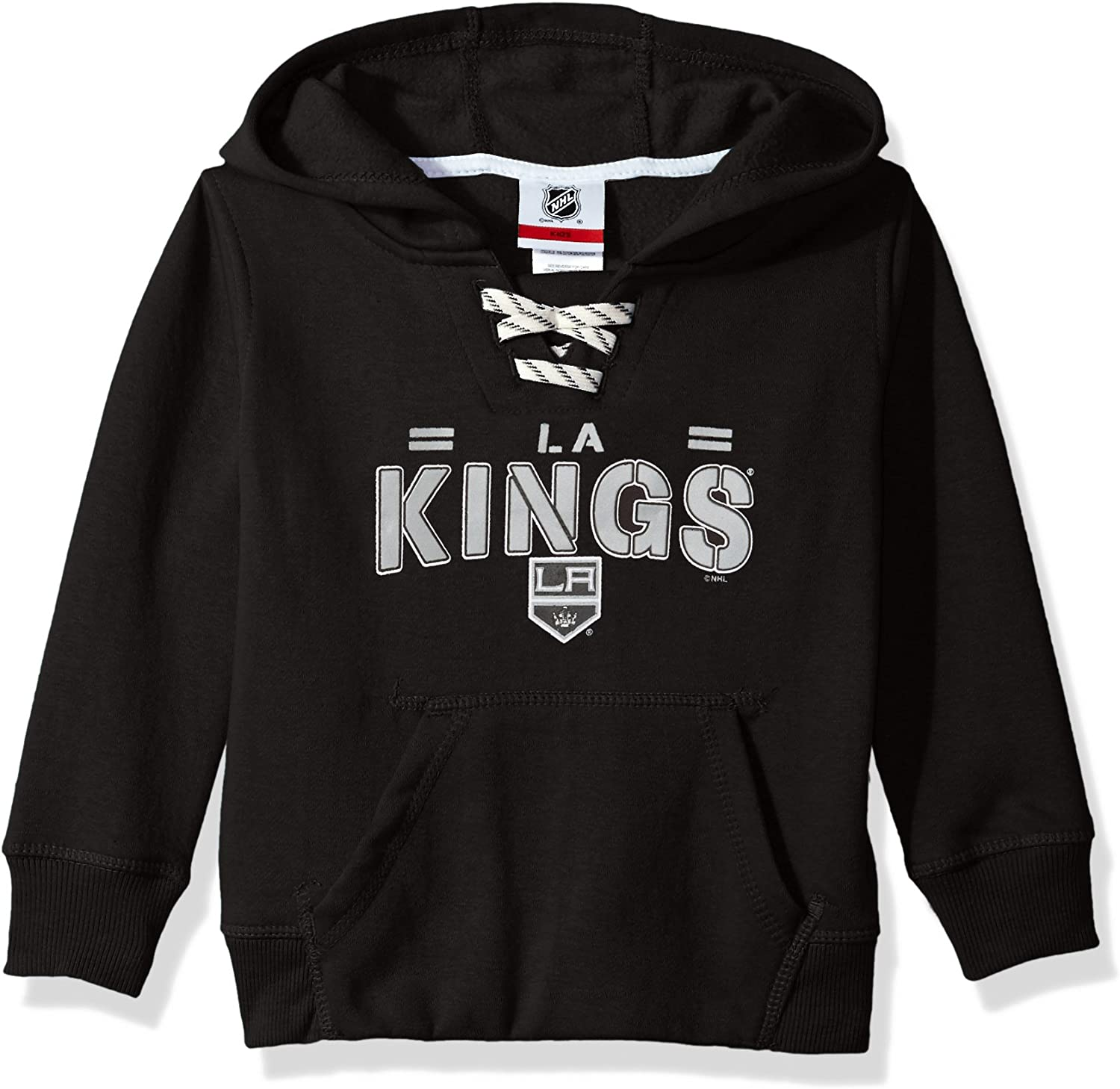 14-16 Black Large NHL Los Angeles Kings Youth BoysStandard Issue Fleece Hoodie