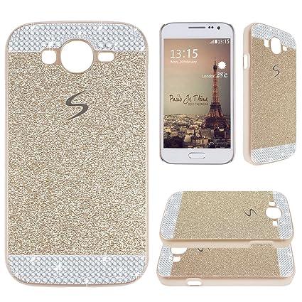 Asnlove para Samsung Galaxy Grand NEO i9060/i9082 Funda y carcasa bling con diamante rigida dura policardonato cover goma ultrafino diseño bling case ...