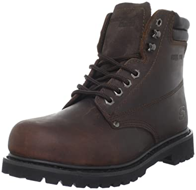 Skechers For Work Women's Raffish Boot,Dark Brown,9 ...