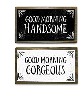 ANVEVO Good Morning Handsome, Good Morning Gorgeous - Two 6