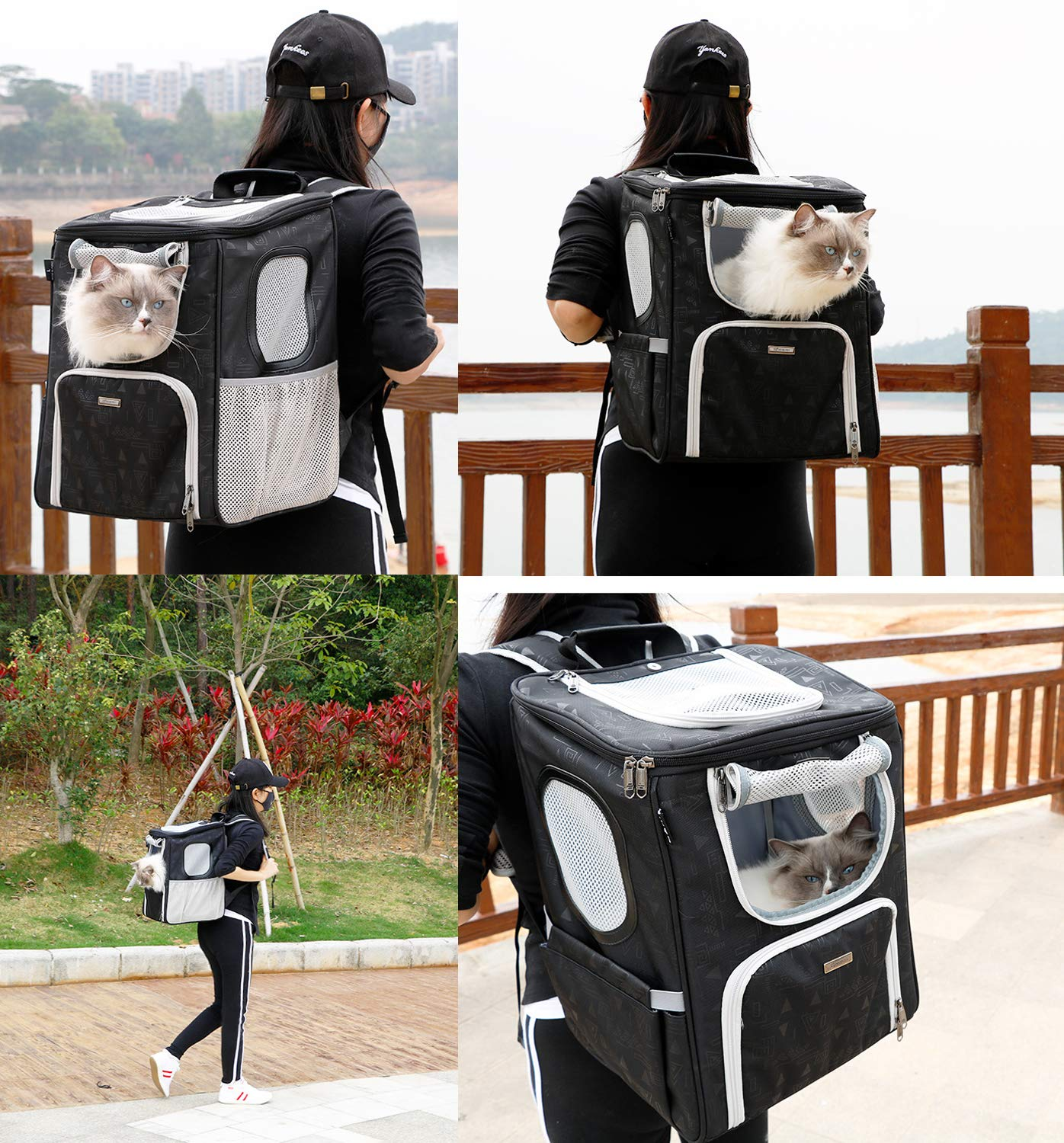 DODOPET Pet Backpack Carrier for Dog/Cat/Other Animals Up to 20 lbs