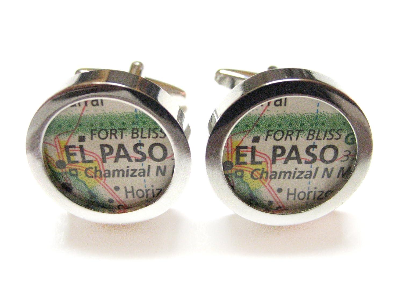 El PasoテキサスマップCufflinks B00GCGIRQU