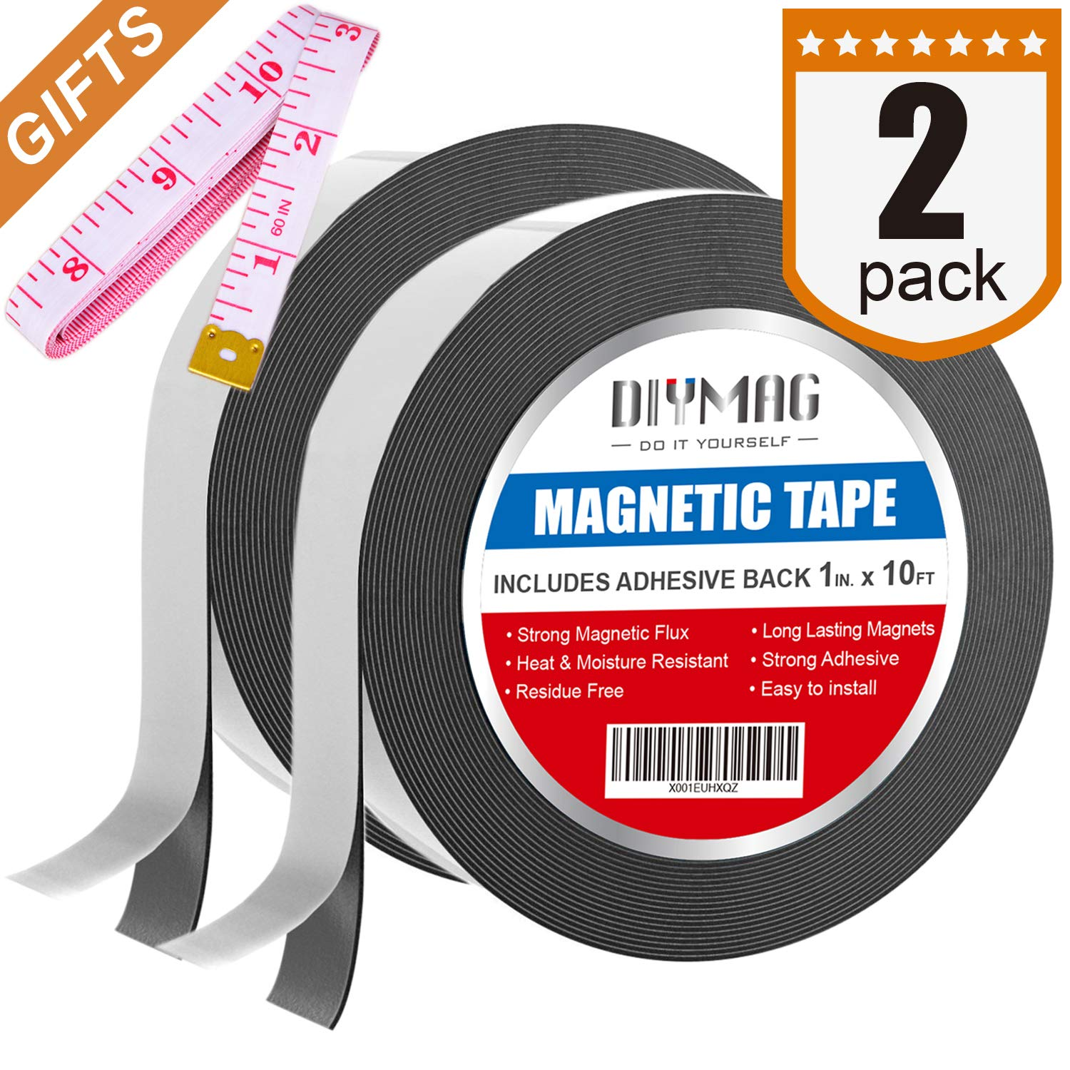 1//16 Thick 1 Roll 100 feet 2 Wide 1//16 Thick 2 Wide ZG80A-ABX Master Magnetics Flexible Magnet Strip with Adhesive Back