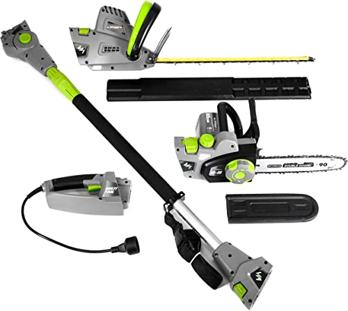 Earthwise CVP41810 7 10 Handheld Saw-4.5 Amp 17 Pole Hedge Trimmer 4-in-1 Multi Tool