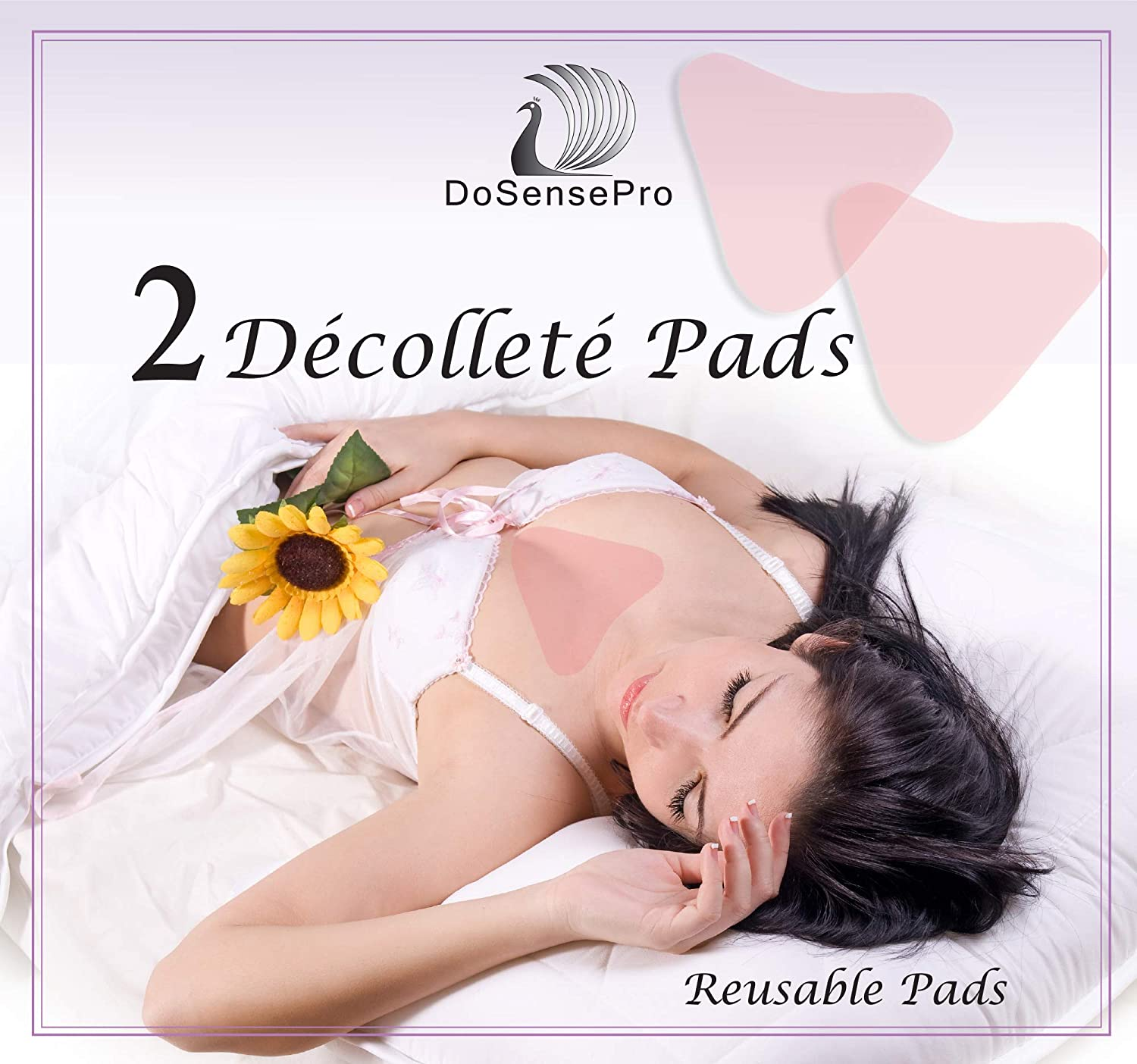 Decollete Anti Wrinkle Chest Pads - Pack of 2 Invisible Chest Pad for Cleavage Wrinkle Prevention - Results from 1st Use. Hypoallergenic Anti-Wrinkles Patch, Reusable Anti-Aging Sticker by DoSensePro: Beauty