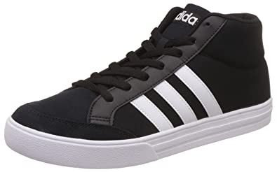 03a23867cdce6e adidas Vs Set Mid, Chaussures de Fitness Homme, Blanc Footwear/Noir  Essentiel,