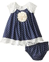 Bonnie Baby Baby Girls Chambray Dress and Panty Set