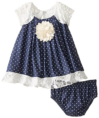 33a2a1a56 Amazon.com: Bonnie Baby Baby Girls' Chambray Dress and Panty Set: Clothing