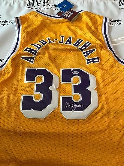 more photos e1ddd 656fb Kareem Abdul-Jabbar Autograph Throwback Los Angeles Lakers ...