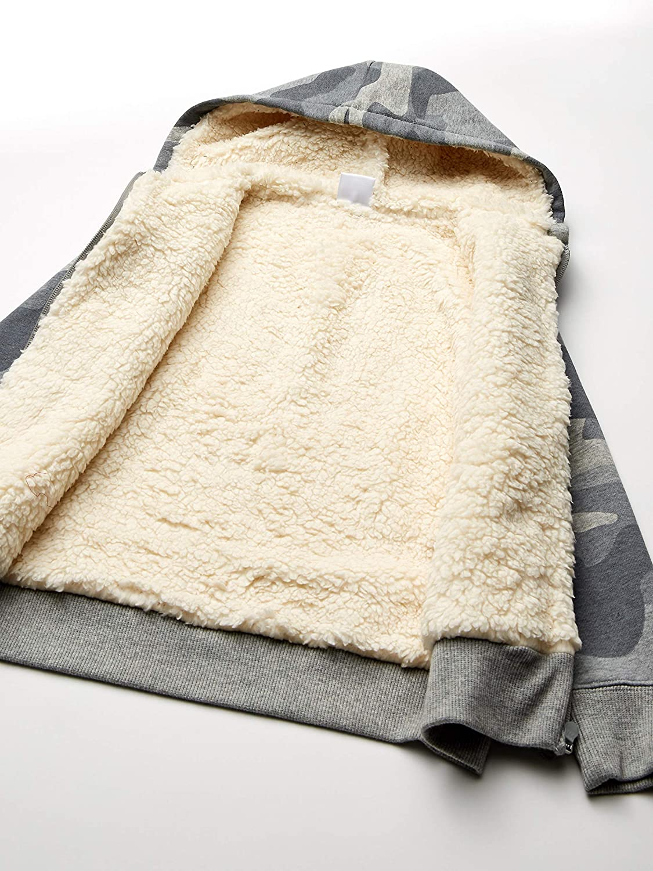 Spotted Zebra Sherpa-Lined Fleece Zip-up Hoodies Mixte Enfant