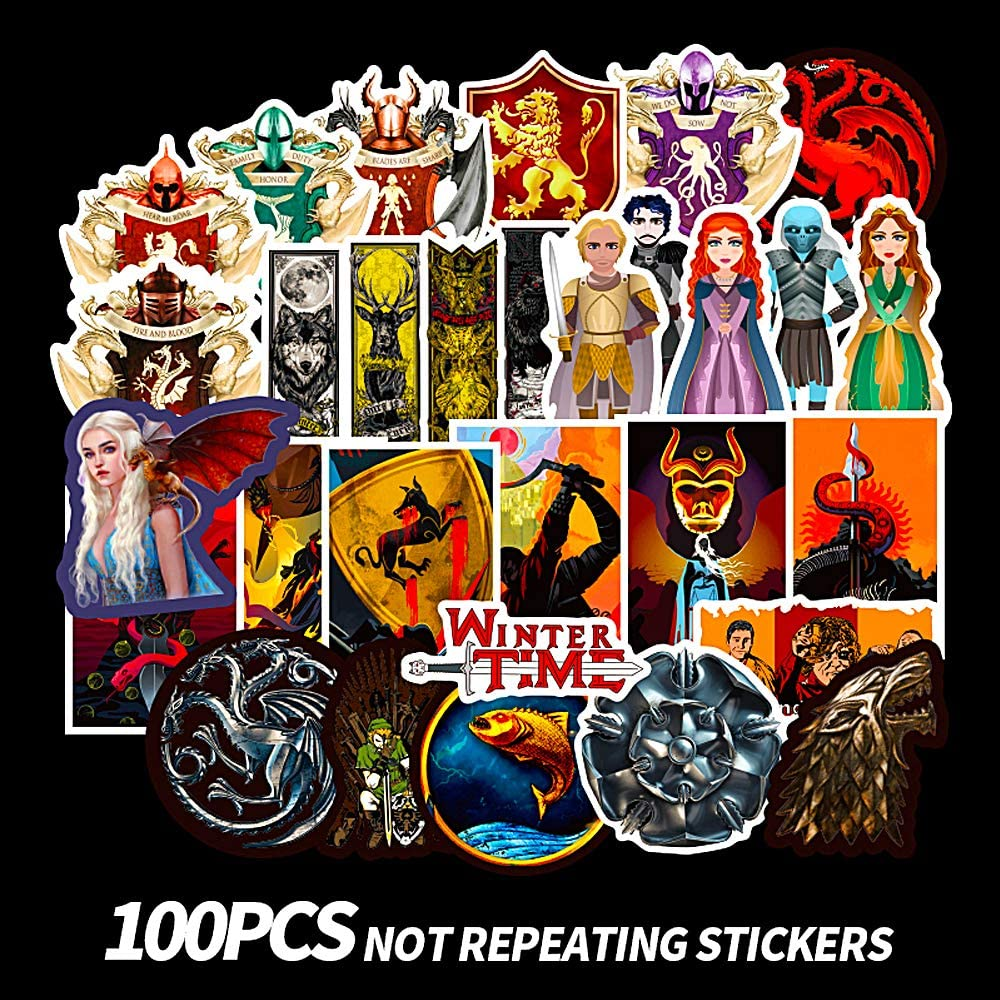 CHSTAR Water Bottles Stickers, Cool Laptop Sticker for Computer,Hydro Flask,Guitar,Bike,Skateboard Stickers Waterproof Vinyl Decals Stickers,Best Gift for Adult,Children,Teen 100pcs Pack.
