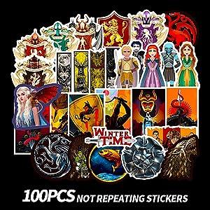 CHSTAR Water Bottles Stickers, Cool Laptop Sticker for Computer,Hydro Flask,Guitar,Bike,Skateboard Stickers Waterproof Vinyl Decals Stickers,Best Gift for Adult,Children,Teen 100pcs Pack.