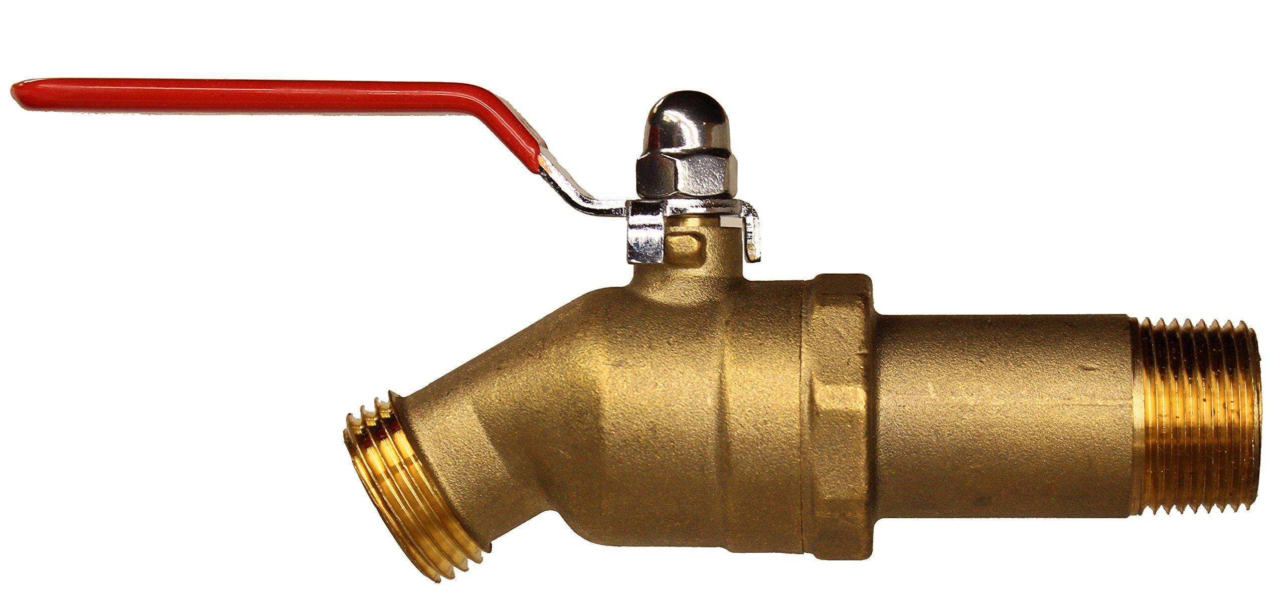 House Mods HMP010 Brass 3/4'' MIP Water Heater Replacement Drain valve(Full Port, Ball Valve)