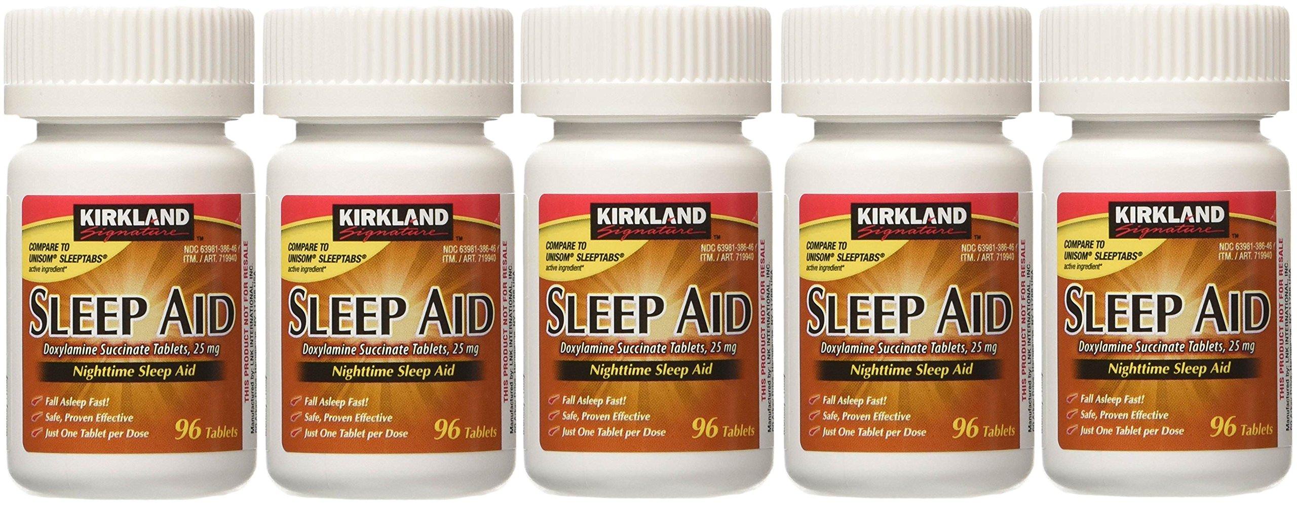 Sleep Aid Succinate 25 Mg 5 Bottles X 96 Tabs
