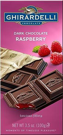 Ghirardelli Chocolate Bar, Dark & Raspberry, 3.5-Ounce Bars (Pack ...