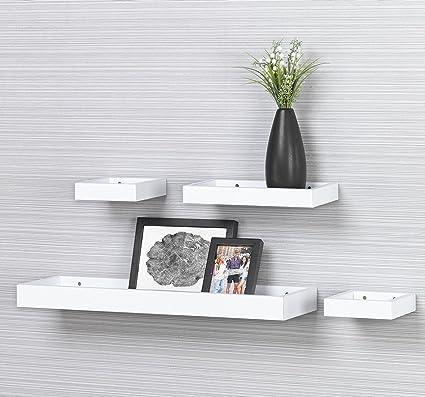 Amazon.com: O&K Furniture Set of 4 Floating Ledge Shelves for ...