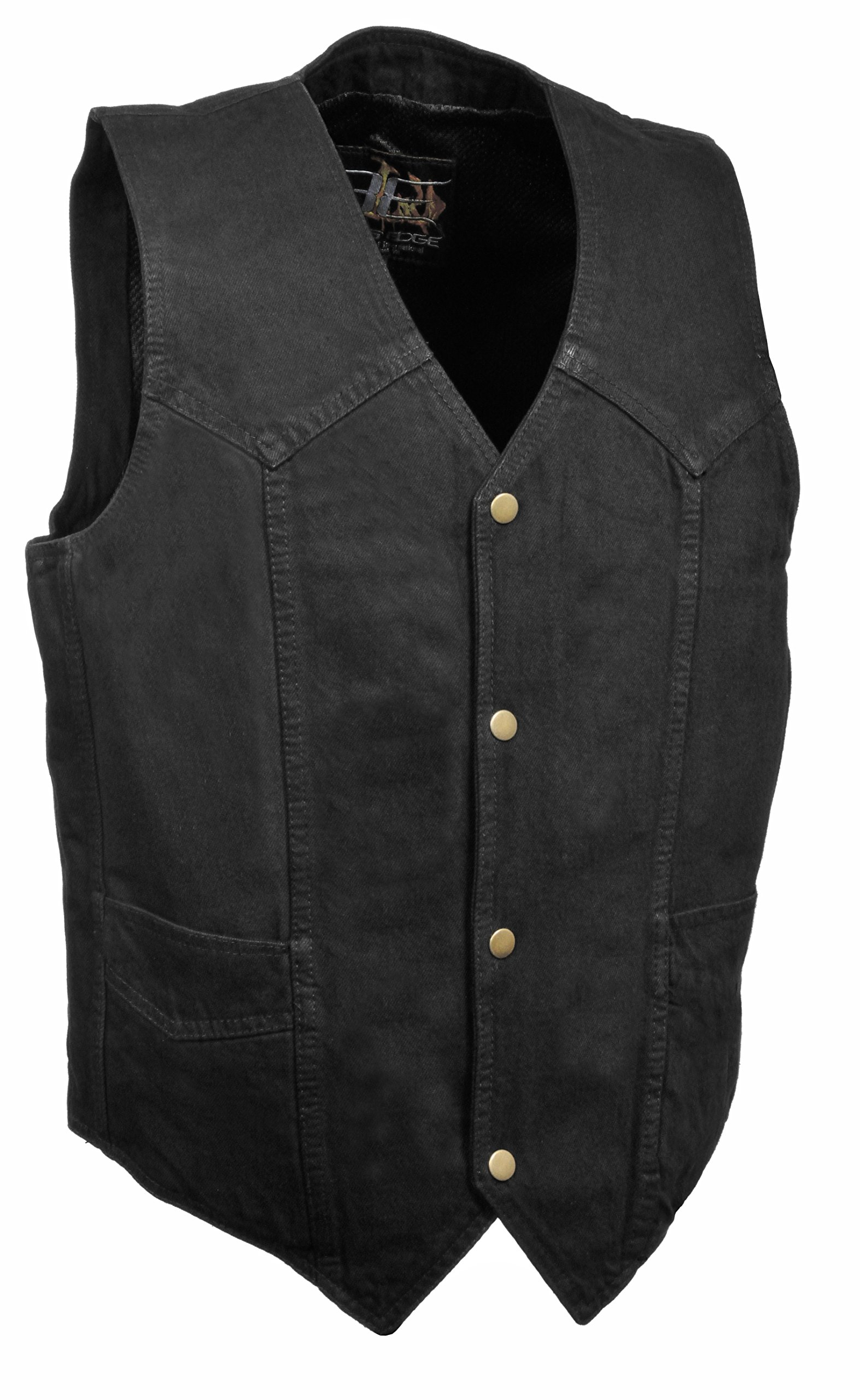 MILWAUKEE PERFORMANCE- Men's Plain Side Basic Denim Vest (Black, XXX-Large) by Milwaukee Performance
