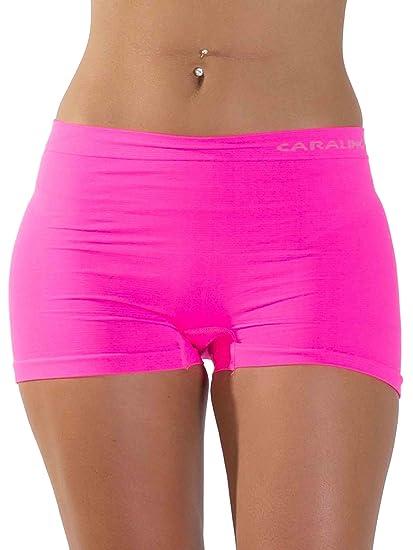 3e2fee159964 LOVE MY Fashions Womens Underwear Plain High Waist Ladies Seamless Stretch  Boxer Shorts S M L XL XXL