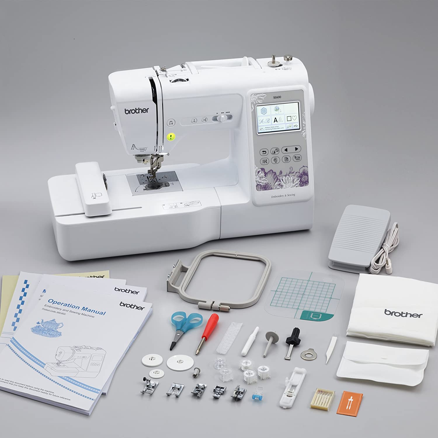 SE600 with Initial Stitch Embroidery Lettering /& Monogramming Software