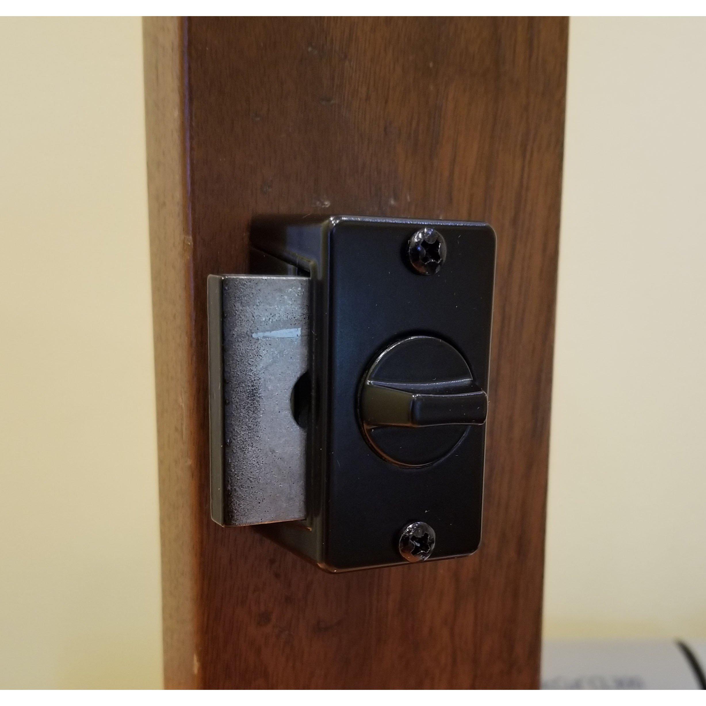 Keyed Storm Door Deadbolt - Black-1-1/2 Inch Thick Door