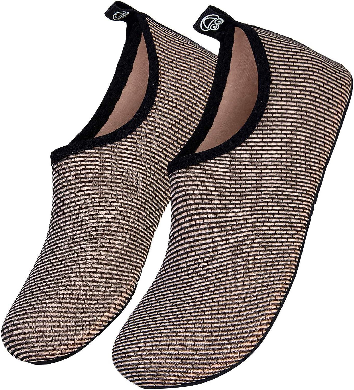WateLves Chaussettes de Sport Aquatique de Nager de Surf de Yoga et de Plage deau Poids L/éger S/échage Rapide Pieds Nus de Sport Aquatique Hommes Femmes