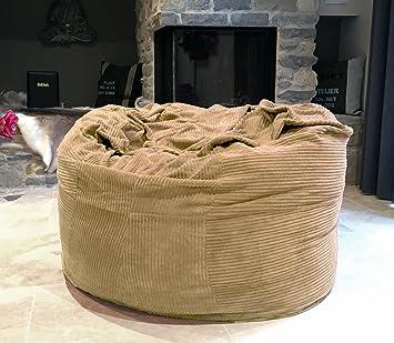Famous Home Tchilla Cord Sitzsack Kinder Sand 110cm Memory Schaum