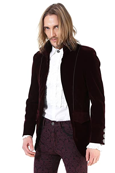 Pentagramme - Chaqueta - para Hombre Granate Small: Amazon ...