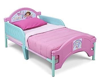 Amazon Com Delta Children Plastic Toddler Bed Nick Jr Dora The Explorer Childrens Bed Safety Rails Baby