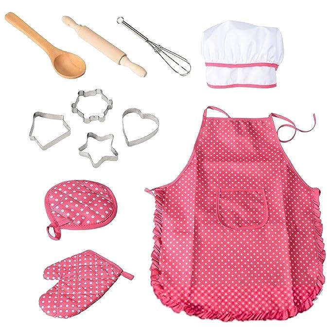 Amazon.com: Gosear Kids Cooking Set, 11 pcs niños Chef ...
