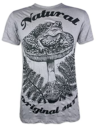 652fb6cf Sure Men´s T-Shirt Psychedelic Toad Art Shrooms Hemp: Amazon.co.uk: Clothing