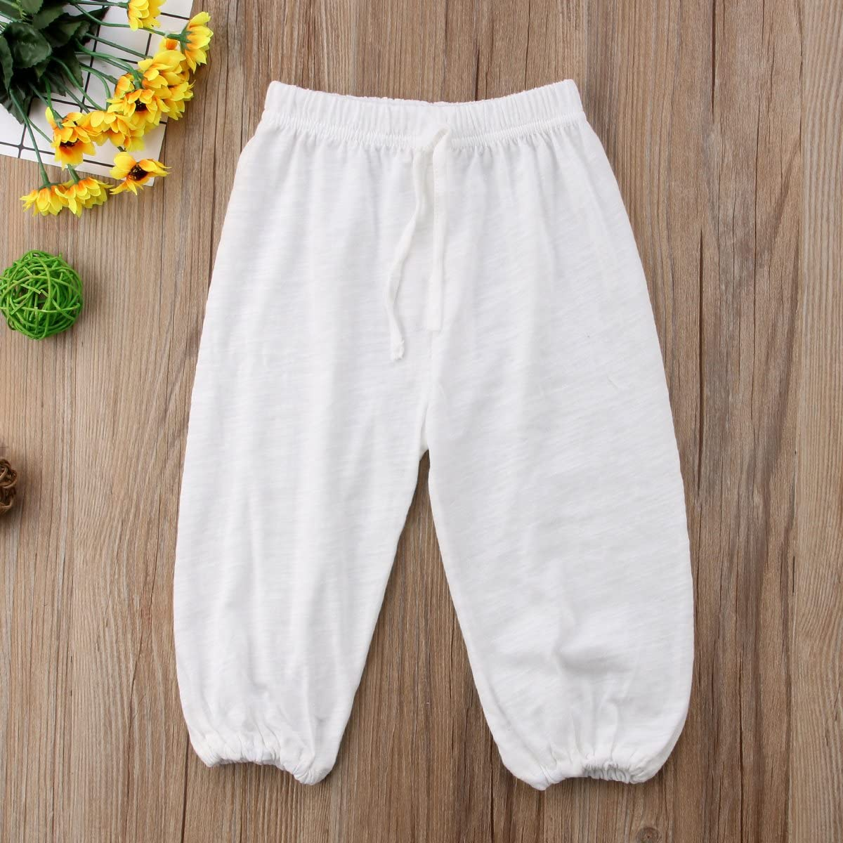 Dourbesty Toddler Baby Girl Boy Loose Casual Bloomers Basic Soft Trouser Pants