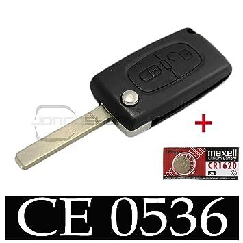Carcasa de llave de coche Jongo para Citroen C3 con pila ...