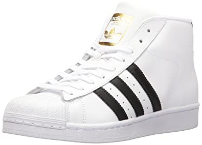 quality design e3352 e3a03 adidas Originals Women s Pro Model Running Shoe White Black Metallic Gold  (9.5 M