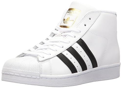 buy online 34254 af4ad adidas Originals Women s Pro Model Running Shoe, White Black Metallic Gold,  (