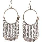 b86779b1f Zephyrr Fashion Silver Tone Dangler Hook Tassel Statement Earrings for Girls