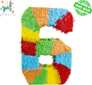 kaimei Pinata Colorful Numbers for Kids Birthday Anniversary Celebration Decorations Gaming Theme Pet Party Fiesta Supplies w