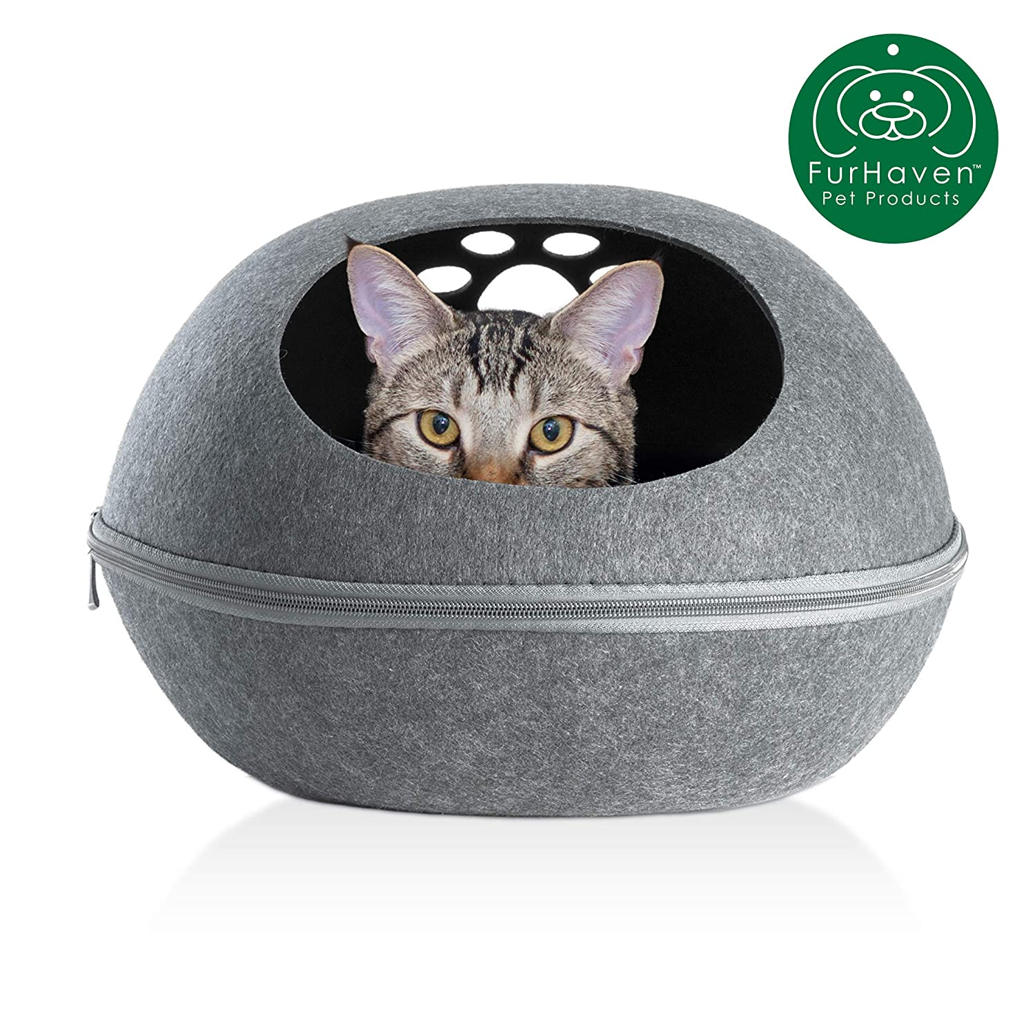 Sensational Furhaven Pet Dog Bed Felt Pet House Private Hideout Den Collapsible Pop Up Living Room Ottoman Footstool Condo For Cats Small Dogs Available Inzonedesignstudio Interior Chair Design Inzonedesignstudiocom
