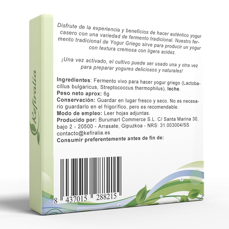 Fermento de Yogur Griego (Reusable de forma ilimitada) + ...