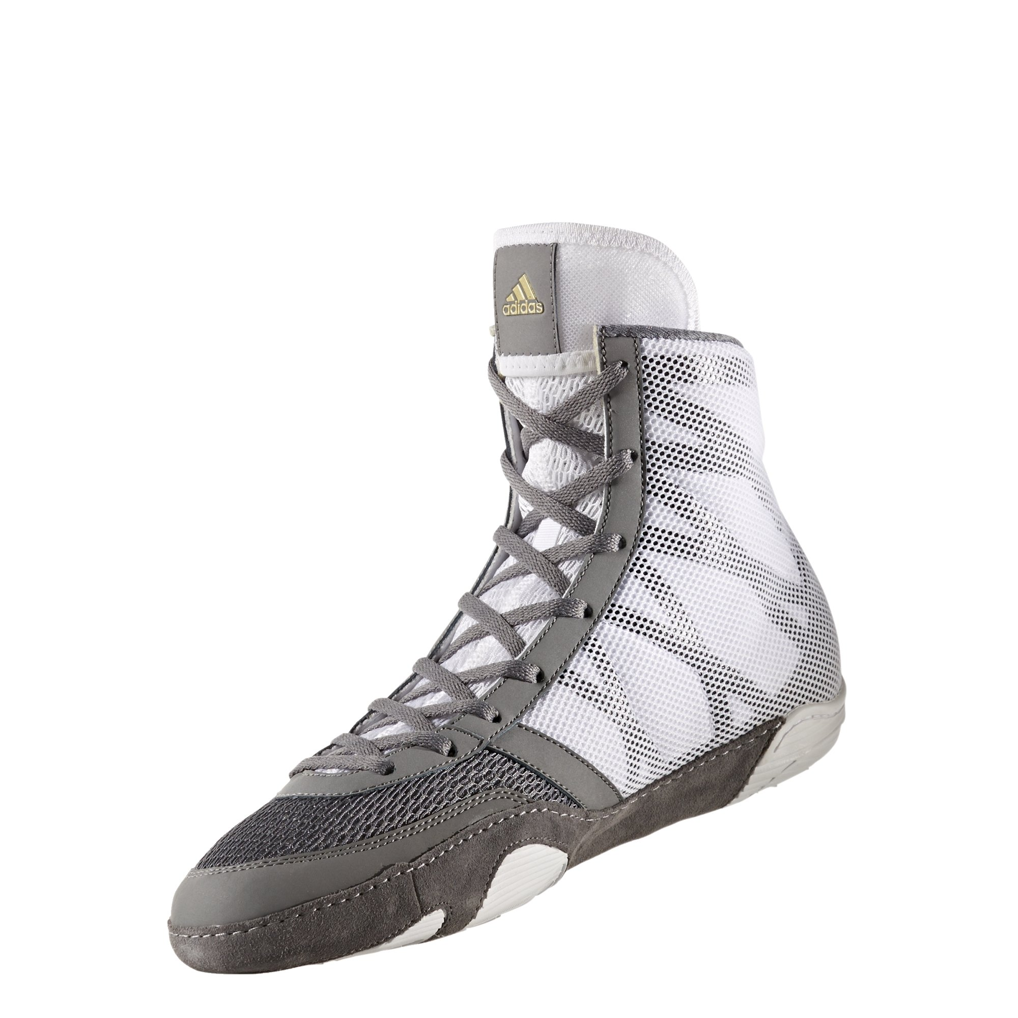 adidas Pretereo III Men's Wrestling Shoes, Grey/Gold/White, Size 6.5 by adidas