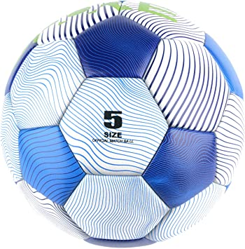 MAIBOLE Soccer Training Ball Practice Traditional Soccer Balls Office Size 5 Composite Soccer Balls with Pump,Perfect for Outdoor /& Indoor Match or Game